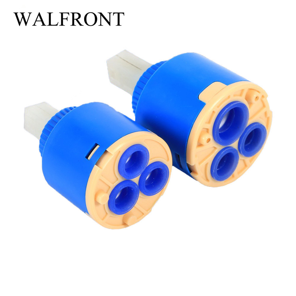 2PCS 40mm Ceramic Replacement Cartridge Water Mixer Tap Inner Control Faucet Ceramic Mixing Spool Valve PP Plastic Blue