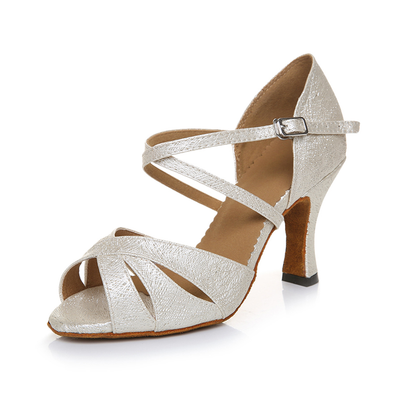 White Latin Dance Shoes