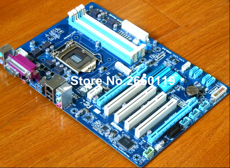 ФОТО 100% Working Desktop Motherboard For Gigabyte GA-P75-D3 System Board Fully Tested