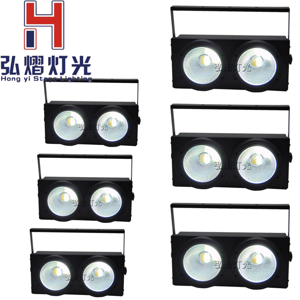 все цены на 6 pcs/lot 2X100W dmx led cob par light 2in1 COB LED Par LED wash light stage DMX lighting for sale led lights for parties онлайн