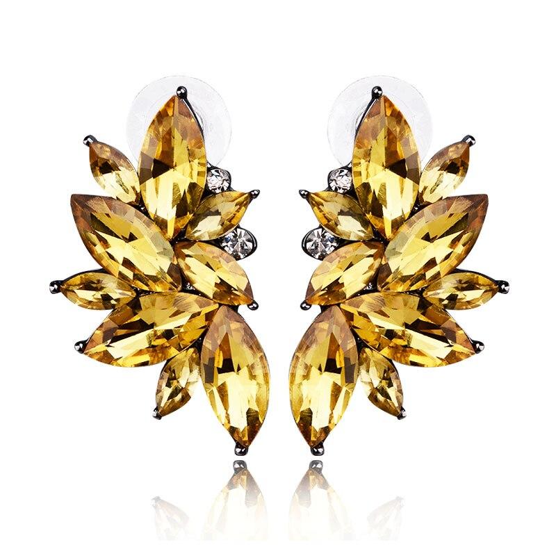 LUBOV 2018 Trendy Angel Wing Design Opal Stone Stud Naušnice Žene - Modni nakit - Foto 3