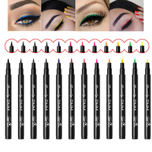 2019 Hot 12 Color Matte Eyeliner Liquid Pencil Waterproof Make Up Eye Liner Black Blue Red Green Brown Liners Eyes Makeup