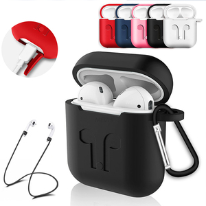 Soft Silicone Case For Apple Airpods Earphone Protective Cover Shockproof Waterproof for Air Pods Headset Accessorie(China)