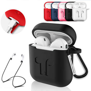 Soft Silicone Case For Apple Airpods Earphone Protective Cover Shockproof Waterproof for Air Pods Headset Accessorie image