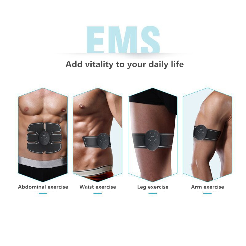 Clever Abdominal Machine Electric Muscle Stimulator Abs Ems Trainer Fitness Weight Loss Body Slimming Massage With 6pcs Replace Gel Pad Outstanding Features Beauty & Health