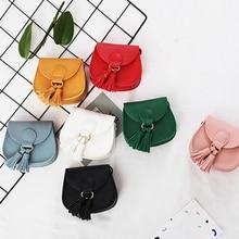 Новая мини-Детская сумка в Корейском стиле; милая сумка принцессы; сумка через плечо для маленьких девочек; детская сумка с кисточками; маленькие сумки-мессенджеры