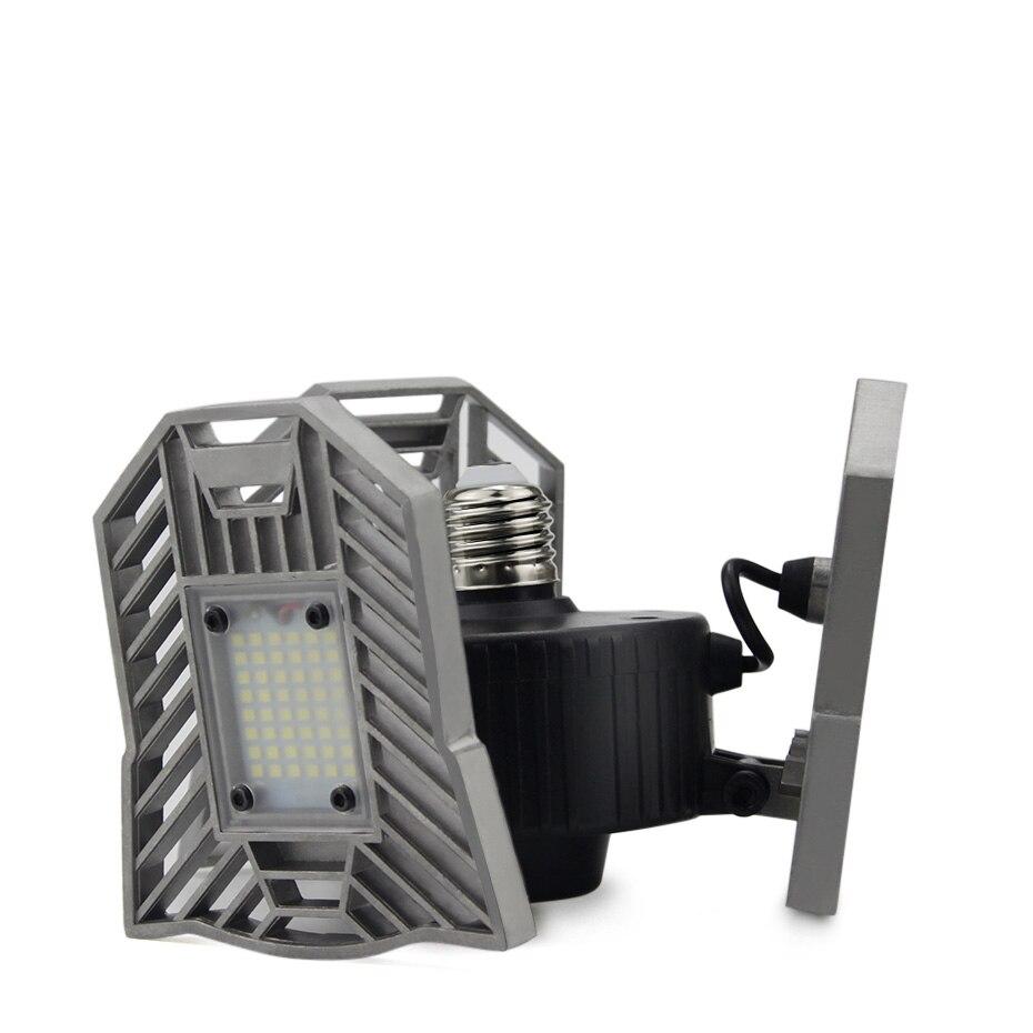 E27 LED 220V 110V Lâmpada 6000lm 60W Deformável 3 cabeças lâmpada Ajustável + calor de liga de Alumínio Dobrável dissipação para o teto Da Garagem