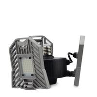 E27 LED 220V 110V 60W Deformable Lamp 6000lm Foldable 3 Adjustable lamp heads+Aluminum alloy heat dissipation for Garage ceiling