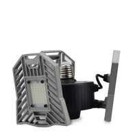 E27 LED 220V 110V 60W lampe déformable 6000lm pliable 3 têtes de lampe réglables + dissipation thermique en alliage d'aluminium pour plafond de Garage