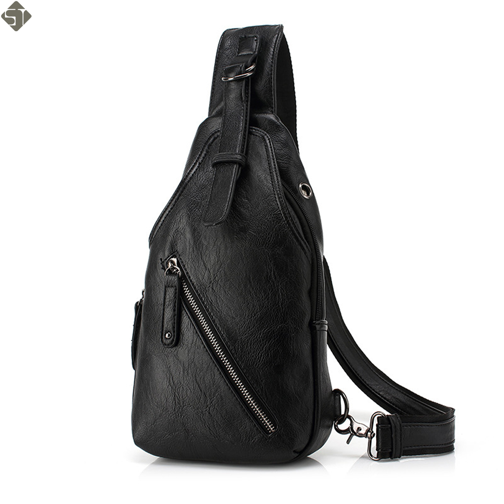 FUSHAN Men Messenger Bags Leather Chest Pack Casual Men's Travel Shoulder Bag Bag Crossbody Sacoche Homme цена
