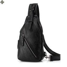 FUSHAN для мужчин курьерские Сумки кожа груди пакет повседневное дорожная сумка через плечо Sacoche Homme