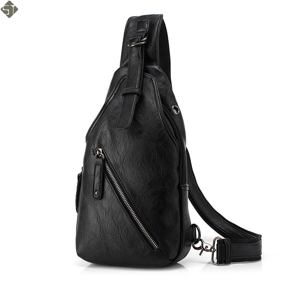 nouveau produit 61db7 dd506 € 11.75 8% de réduction|FUSHAN hommes Messenger sacs en cuir poitrine Pack  décontracté hommes voyage sac à bandoulière sac bandoulière Sacoche ...