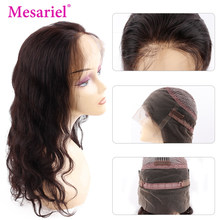 Mesariel Body Wave 360 Lace Frontal Human Hair Wigs For Women Pre Plucked Hairline With Baby Hair Brazilian Remy Hair Wigs(China)