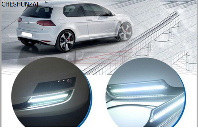 CHESHUNZAI LED DRL daytime running light high bright durable For VW Golf 7 Car modification