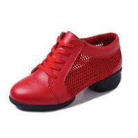 Net nuevo deportes de malla transpirable zapatos inferiores suaves zapatos de baile woamn hembra mujeres Cuadrados zapatos de jazz moderno zapatos sneaker net