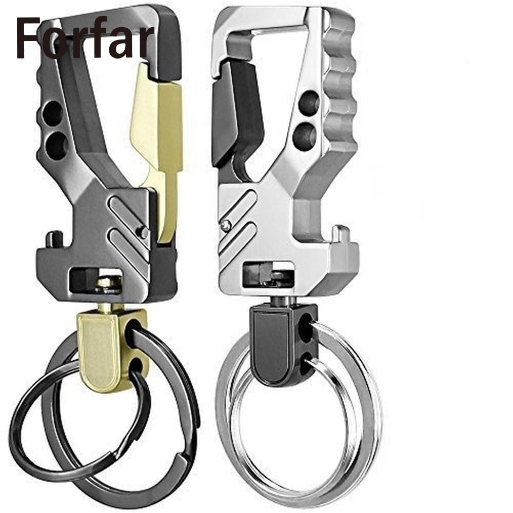 Zinc Alloy Car Auto Keychains Anti-scratch Multi Key Chain Bottle Opener Snap Hook With Swivel Double Loops Key Ring Multi Tool