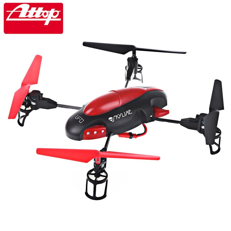 Diseño de Color Rojo brillante Azul 6-Axis Gyro RTF Quadcopter Control Remoto AT