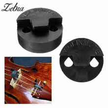 Zebra Hot Sale 19mm Black Acoustic Rubber Violin Mute Fiddle Silencer for 1/2 3/4 4/4 Violin Violin Parts & Accessories