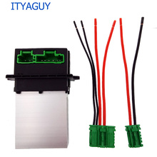 Air Conditioning Blower Resistor+Connector/Wire for Citroen Renault Megane Scenic Clio PEUGEOT 207 607 6441 L2 6441L2 7701048390