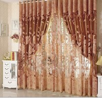 Blackout curtain with rings or hooks,free triming for different size ,1647 ,ready curtains and voile,curtain decor