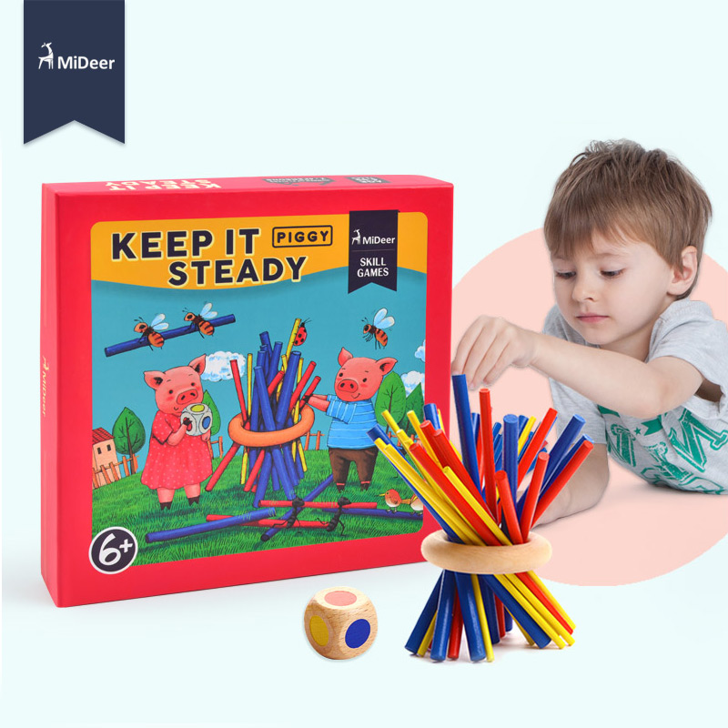 Mideer Keep it steady A Family Game of Skill and Dexterity for Ages 6+ Educational Stick Puzzle Toys for Children Kids Gift гл 172 фигурка кот икра цв гжельский фарфор