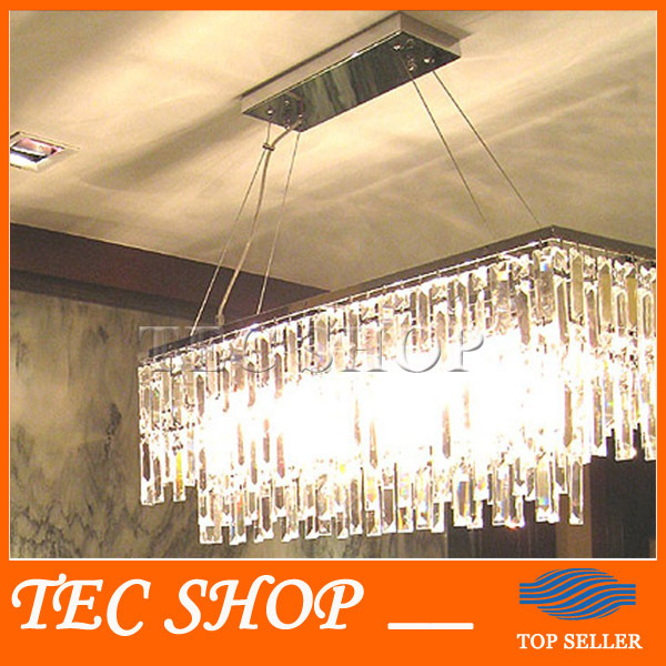 Best Price Modern Rectangle K9 Crystal Chandelier Restaurant Light Luxury Lustres Crystal Lamp for Bar E14 LED Lighting Fixture z best price l80xw80xh100cm modern k9 square crystal chandelier restaurant lamp hanging wire pyramid crystal lamp project lights