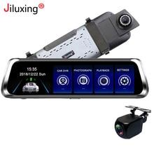 """Jiluxing M902S 10 """"streaming di file multimediali di rearview dell'automobile dello specchio DVR Super night vision 1080 P della Macchina fotografica due telecamere Video registratore Dash cam"""
