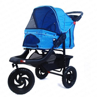 Ultra luxury lightweight folding large and medium sized pet stroller pet cat dog cart outing supplies