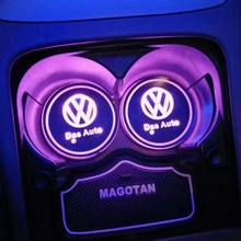 for Volkswagen Ambient Lamp Automatic Induction LED Light Emitting Water Cup Cushion Pad