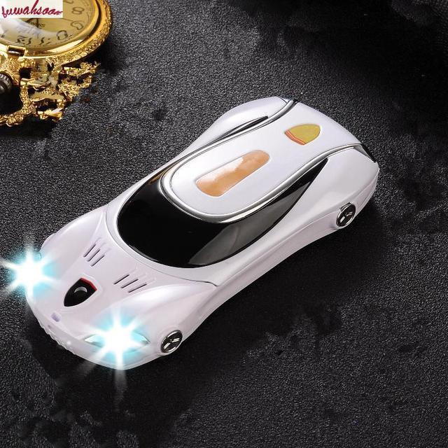 סמארטפון נייד טלפון סלולרי F1 A11 ישר צעצועי רכב טלפון ילדים של קריקטורה אופי מיני דגם עם אורות מתכת גוף