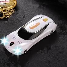 Мобильный телефон F1 с прямой камерой, без разблокировки, игрушечный автомобиль, детский персонаж мультфильма, мини-модель с подсветкой, мет...