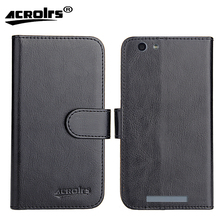 Ergo A553 Dual Sim Case 2017 6 Colors Dedicated Flip Leather Exclusive 100% Special Phone Cover Cases Card Wallet+Tracking стоимость