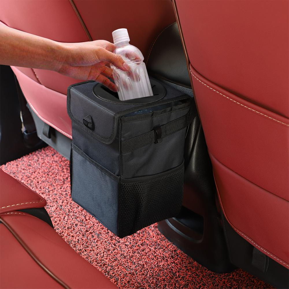 Wasserdicht Auto Mülleimer Bin Auto Auto Zubehör Organizer Müll Dump Für Mülleimer Autos Lagerung Taschen Verschließbare Tragbare
