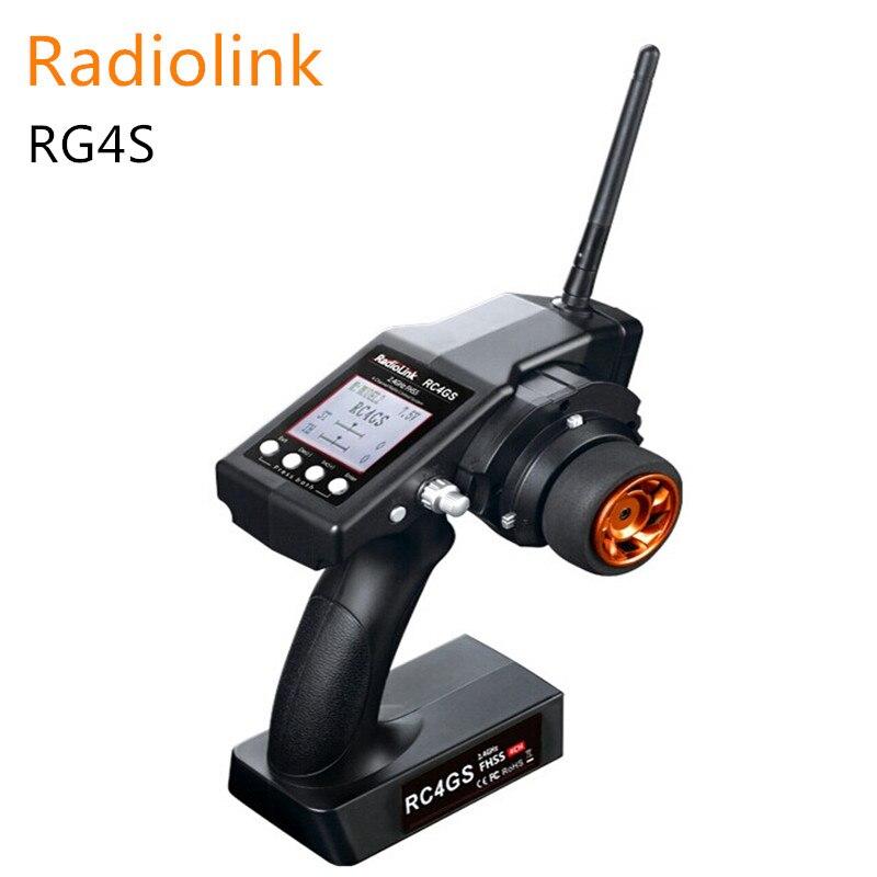 Radiolink RC4GS 2,4 г 4CH пистолет пульт дистанционного управления Передатчик с гироскопом интегрированный + R6FG приемник для RC автомобиль лодка м 400 м ...