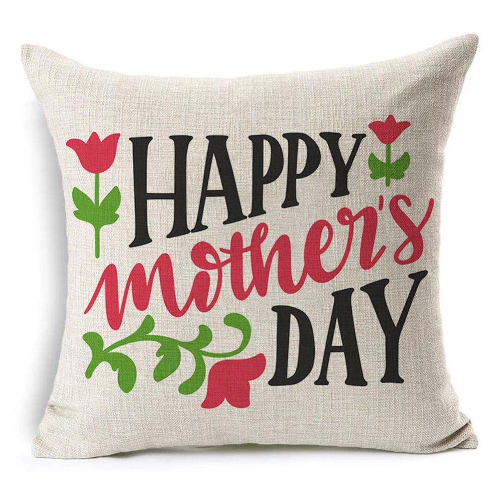 Счастливый День матери письмо шаблон хлопок белье Чехлы наволочка Цитата талии бросок наволочка для диван домашний декор