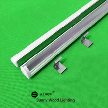 5-30 pcs/lot 40 pouce 1 m 45 degrés coin en aluminium profil pour 5050 led bande, laiteux/couvercle transparent pour 12mm pcb avec des raccords