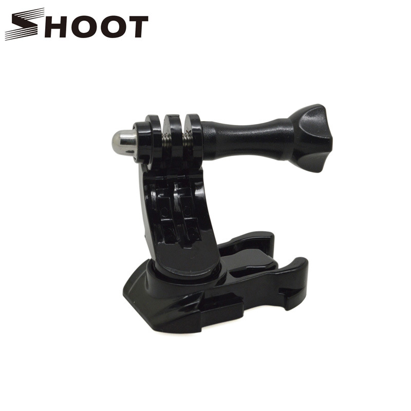 Turntable J Hook Buckle Mount Base for GoPro HERO 5 4 3 Session SJCAM SJ4000 Xiaomi Yi 4K Helmet Chest Strap Go Pro Accessories
