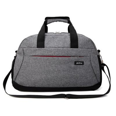 Новинка, корейские повседневные дорожные сумки, мужские дорожные сумки, нейлоновые дорожные сумки, вместительные сумки для багажа, сумки для путешествий - Цвет: Gray