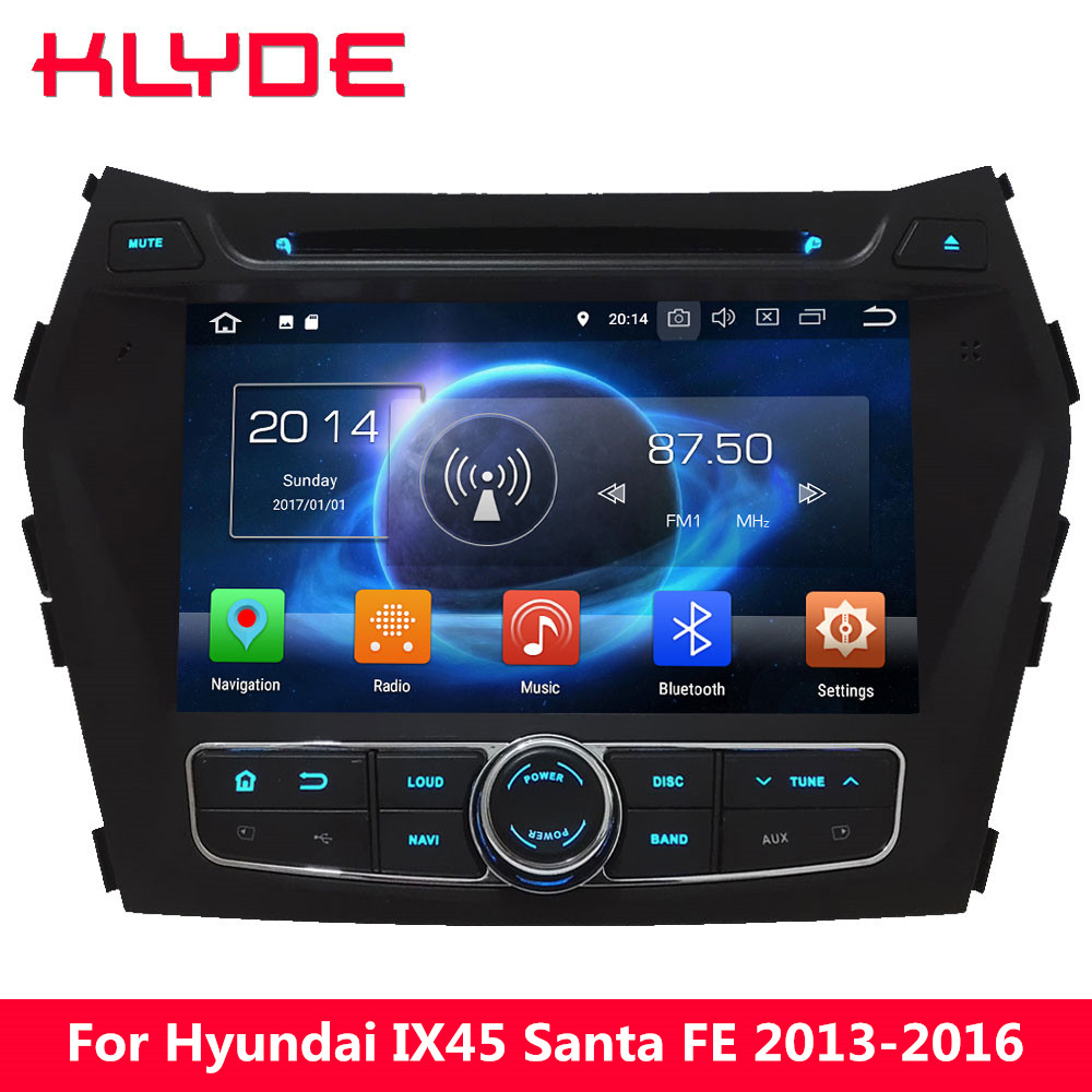 KLYDE 8 Octa Core PX5 4G Android 8.0 4GB RAM 32GB ROM Car DVD Multimedia Player For Hyundai IX45 Santa FE 2013 2014 2015 2016 octa core px5 android 8 0 car dvd gps for hyundai ix45 santa fe 2013 2015 with 4g ram 32g rom radio wifi 4g usb auto multimedia