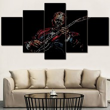 Canvas HD Printed Poster Wall Art Picture Decor Framework 5 Panel Blues Music Painting For Modern Living Room Home Artwork