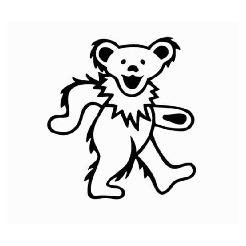 HotMeiNi Grateful Dead Bear Car Window Decal Truck Sticker White Animal Pattern Cartoon Not Packaged The Whole Body