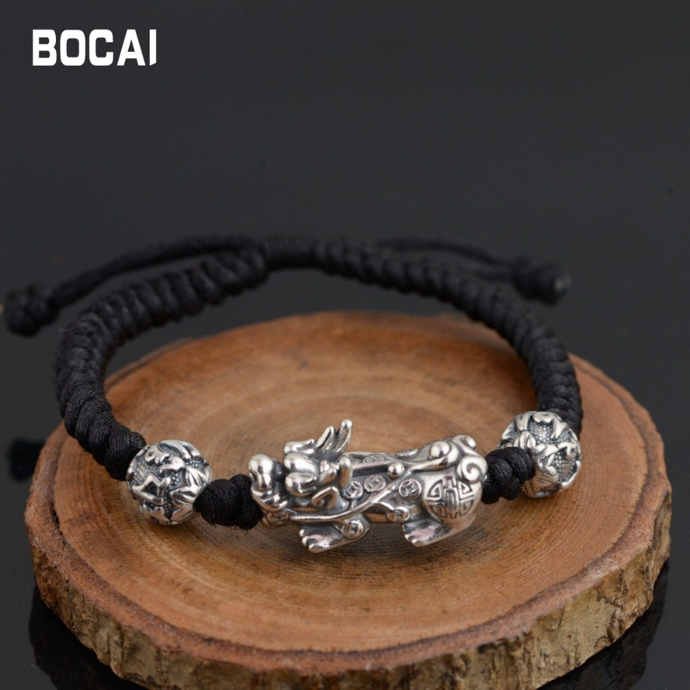 S925 sterling silver Thai silver antique style brave bracelet couple models, new gifts