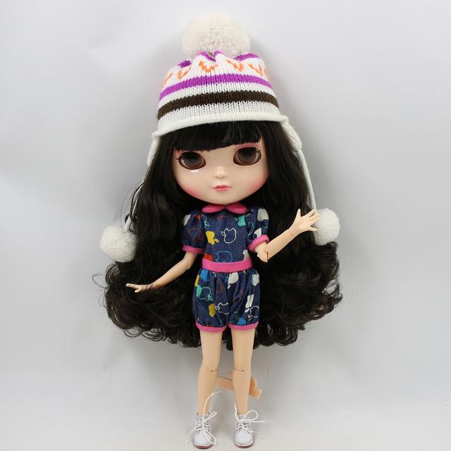 ICY Neo Blythe Doll Qara Saç Azone Bərkidici 30cm