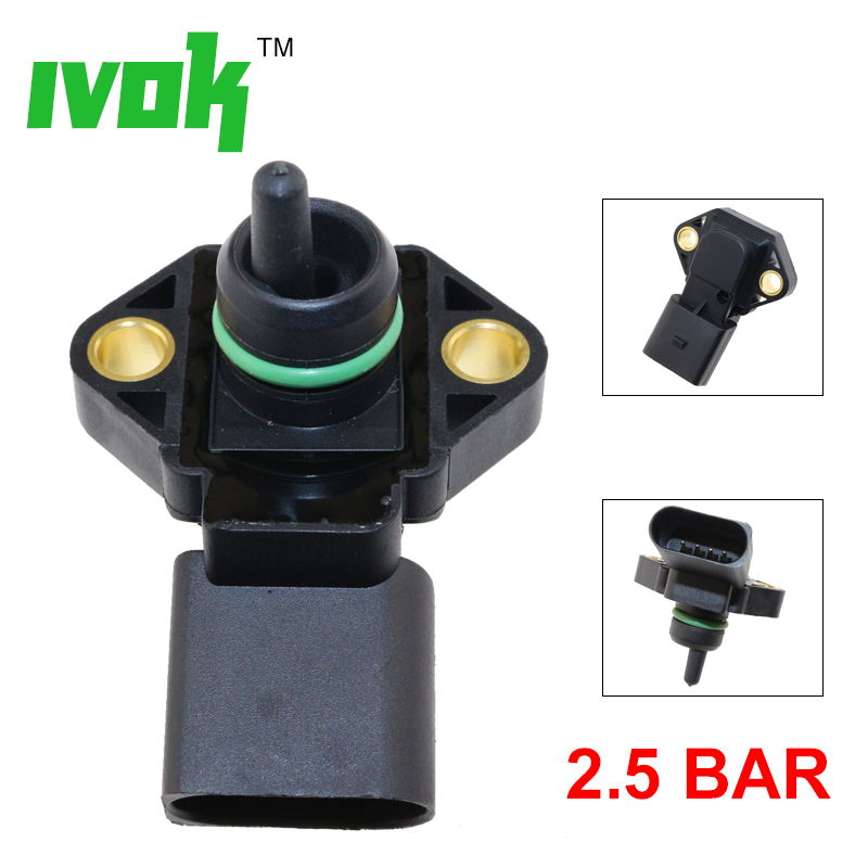 0281002177 2.5 BAR Manifold Absolute Pressure MAP Sensor For AUDI A2 A3 A4 A6 TT 1.2 1.4 1.8 T 1.9 2.5 TDI 038906051 062906051(China)