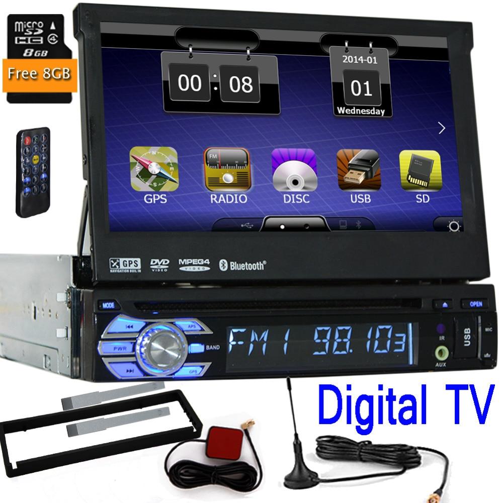 Digital TV One Din 1 Din WCE Car DVD Player GPS Navigation