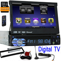 1 DinCar DVD Player GPS Navigation Digital TV Universal In Dash Detachable Front Panel Auto Radio