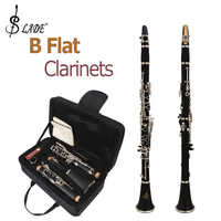 SLADE LADE Latest European Designed Black Student Band B Flat Clarinets + 10 Reeds