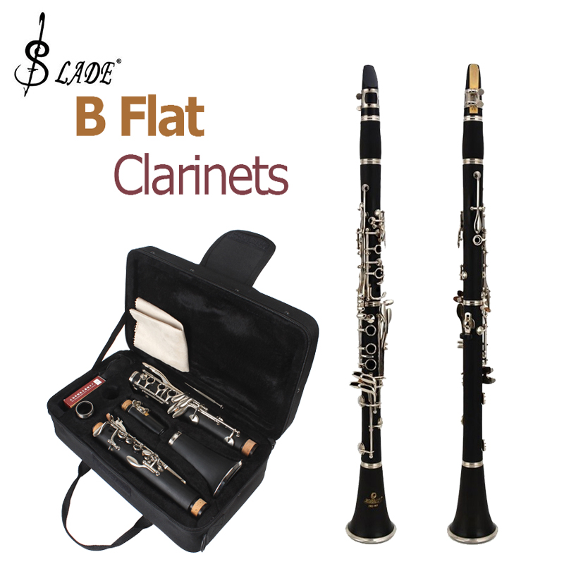 SLADE LADE dernière bande d'étudiant noir de conception européenne B clarinettes plates + 10 anches