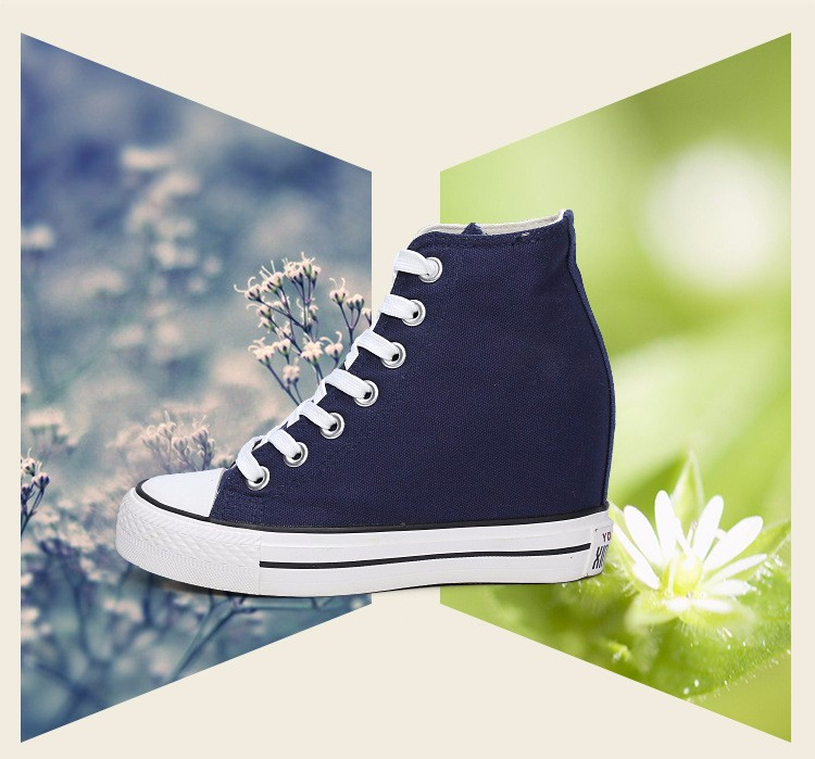 KUYUPP High Top Canvas Women Shoes Espadrilles Spring Autumn Womens Wedges Shoes Lace Up Casual Shoes For Female Sapatilha YD120 (8)