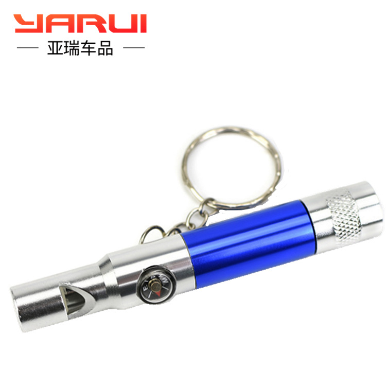 Outdoor compass survival whistle fire protection emergency equipment aluminum alloy metal child lifesaving
